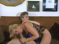 Experienced Blonde Takes a Cock